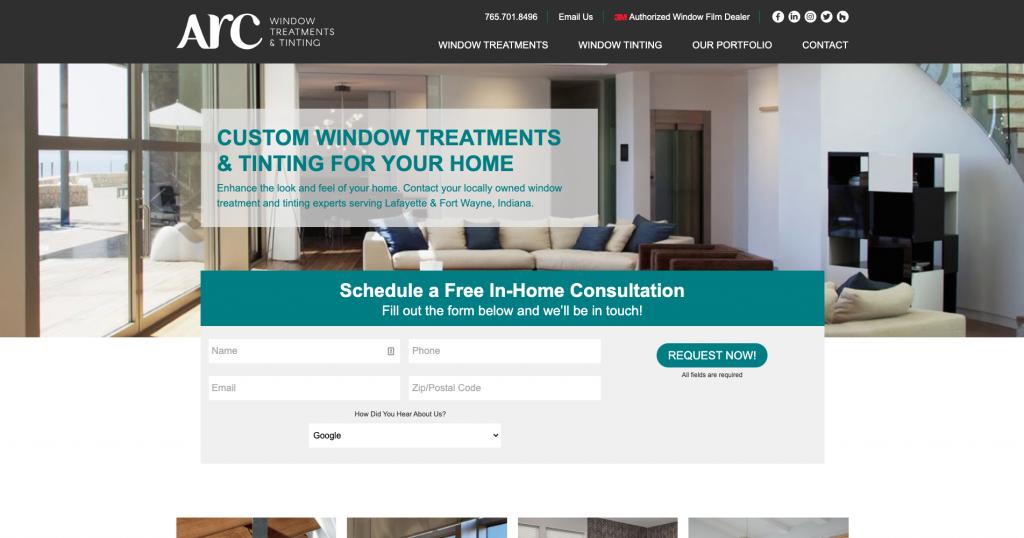A screenshot of the Arc Windows website