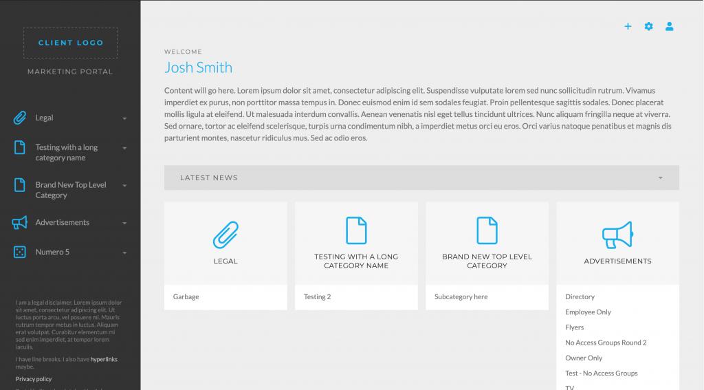 A screenshot of the Asher Web Portal