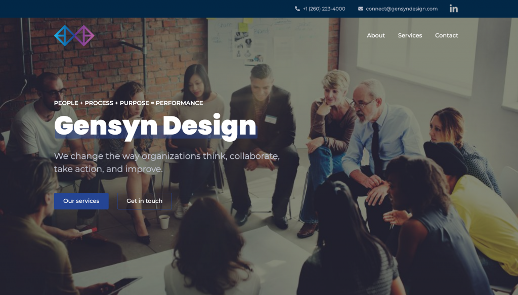 A screenshot of the Gensyn Design website