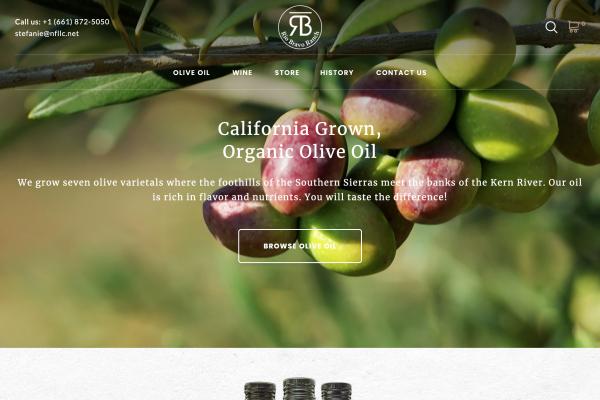 A screenshot of the Rio Bravo Ranch website
